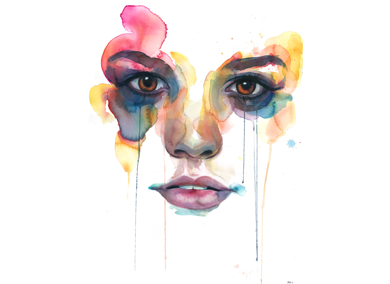 Water color painting by Marion Bolognesi